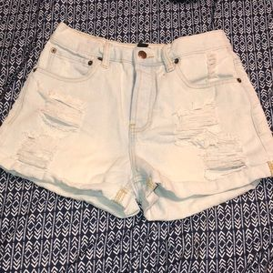 Forever 21 light blue jean shorts